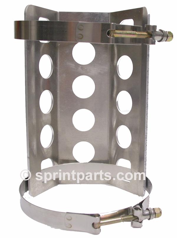Sprint Car Oil Tank : Oil tank mount with clamps sprint car parts