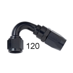 -8 BLACK 120 DEGREE  END FOR S/S HOSE