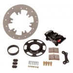 TITANIUM RIGHT REAR BRAKE SET BLACK