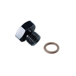 BLACK -8  O-RING PORT PLUG