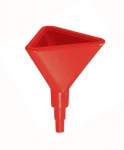 "14"" RED TRIANGULAR FUNNEL"